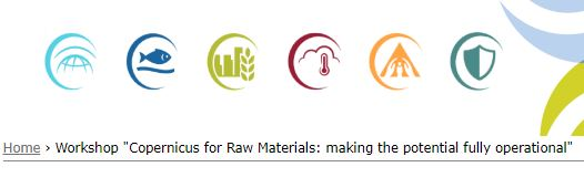 "Bruxelas, 12 de novembro: Workshop ""Copernicus for Raw Materials: making the potential fully operational"""